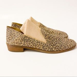 Lucky Brand Cahill Leopard Print Loafers Size 10.5